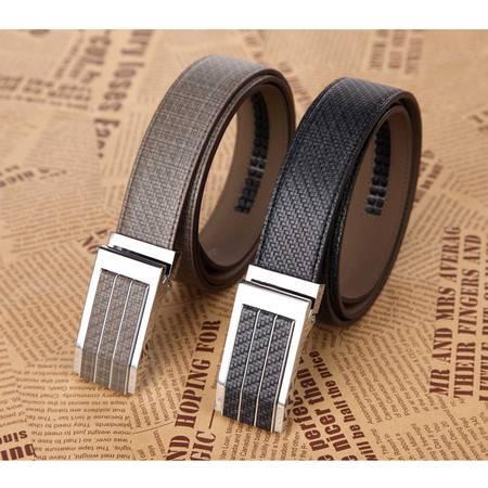 米德尔顿 HDW01/02 男士真皮自动扣编织纹时尚皮带二层百搭款腰带