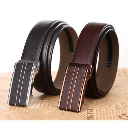 米德尔顿 JTZ3686/3687复古纹男士真皮自动扣时尚皮带 二层百搭款腰带