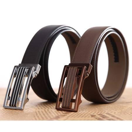 米德尔顿 JTZ3684/3685男士真皮波浪纹自动扣时尚皮带二层百搭款腰带