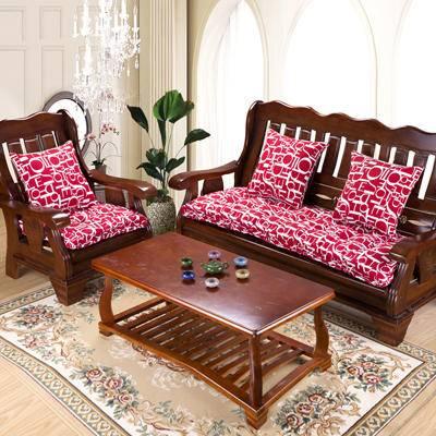冬季帆布实木加厚榻榻米布艺沙发垫实木椅垫40*40