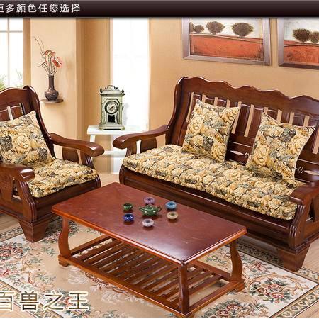 冬季帆布实木加厚榻榻米布艺沙发椅椅垫55*55