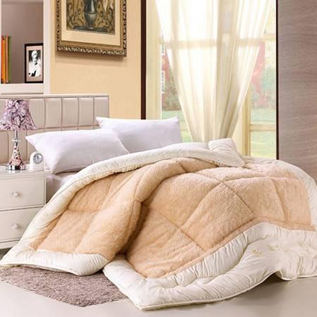 超柔磨毛冬被加厚羊毛被 高档被子 150*200cm4斤