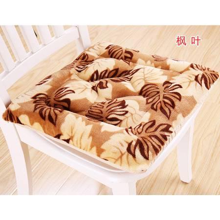 方形法莱绒防滑保暖办公室椅垫 餐椅垫家用坐垫40*40
