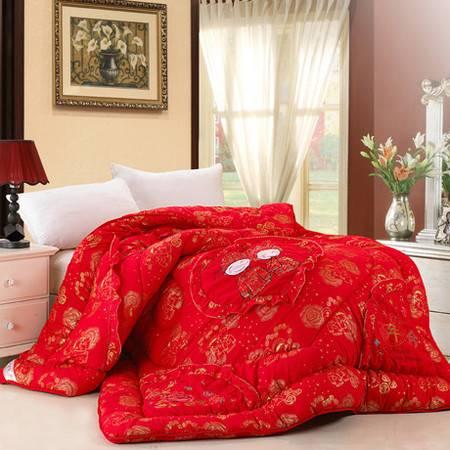 大红色被子家纺冬被 高档婚庆喜被被芯 加厚保暖冬被家纺冬被220*240CM