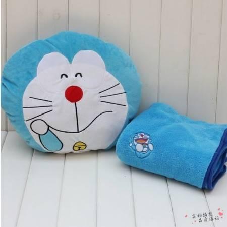 哆啦a梦机器猫空调毯抱枕暖手毛绒公仔毯子90×100CM