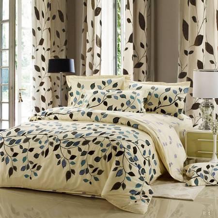 全棉印花新花型四件套南通家纺纯棉床品适用于1.5M/1.8M床