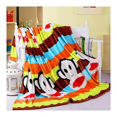 法莱绒毛毯超柔印花加厚绒盖毯 单双人加厚保暖床品毯子120*200