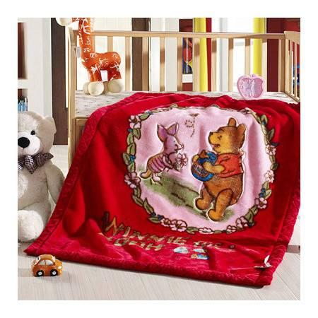 儿童超柔双层拉舍尔毛毯 宝宝专用亲肤健康包边盖毯105*140cm