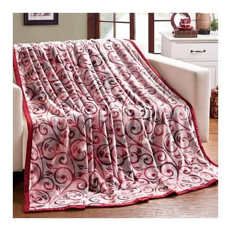加厚包边盖毯多功能亲肤透气云貂绒毛毯380克床单毯120*200cm