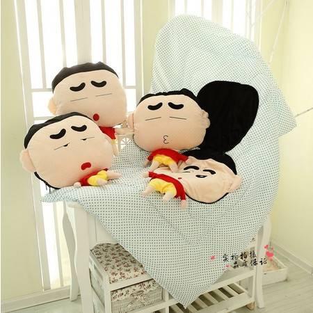 蜡笔小新空调被 婴儿多功能抱枕被折叠50×45CM 展开150×100CM