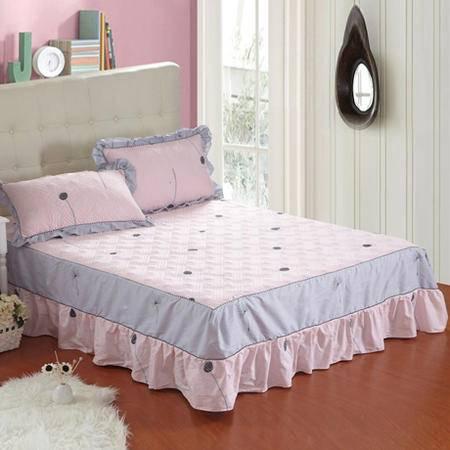 全棉加厚夹棉加棉床裙 保护席梦思 绗缝床裙床笠多规格可选1.2*2.0M