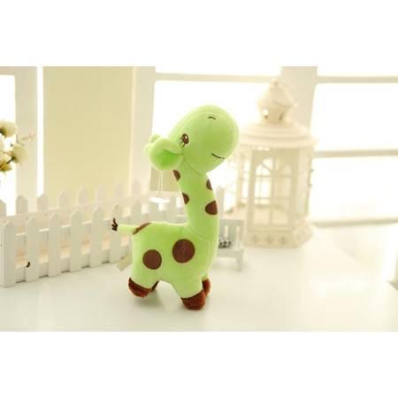可爱长颈鹿小公仔填充毛绒玩具公仔大号高28长13CM