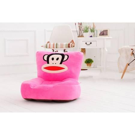 毛绒儿童沙发 卡通坐垫大嘴猴 可爱单孔单人宝宝 小沙发可拆洗