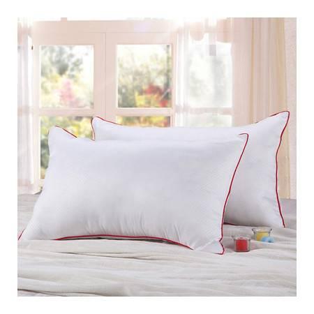 红边超柔磨毛枕头透气纤维枕芯 磨毛彩边枕芯一个的价格