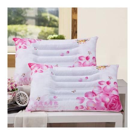 RUIBO玫瑰花香枕头 单人枕芯 护颈助眠纯棉枕头