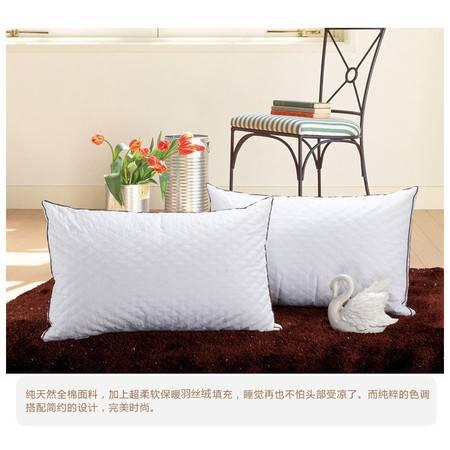 100%全棉立体绗绣枕芯精致双层包边枕芯防霉防螨真空压缩枕头