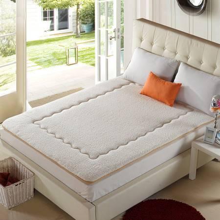 羊羔绒床垫可折叠超柔4英尺学生寝室床垫子床褥100*200CM