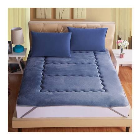 竹炭因子纤维保暖床垫舒适加厚保暖防滑床褥120*200cm