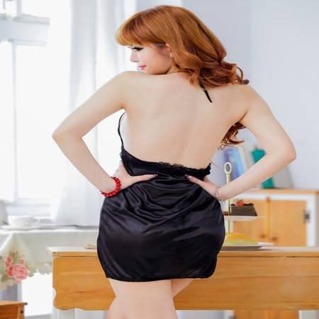 女式睡袍套装性感露背睡衣