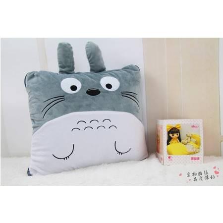 卡通龙猫连体毯子毛绒空调毯100CM×150CM