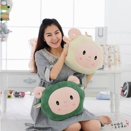 绵羊三合一暖手靠垫空调毯创意毛绒玩具40×40CM(普通款)