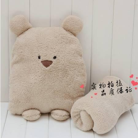 卡通大号方熊毛绒空调毯 1.5×1.2米