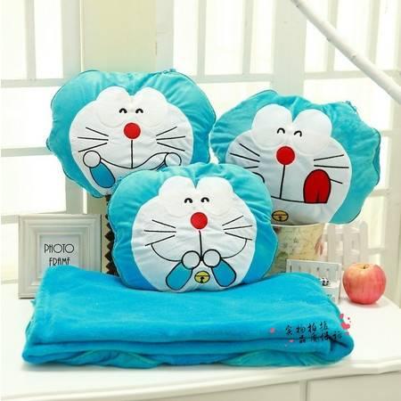 机器猫连体毯子毛绒卡通空调毯100×150CM