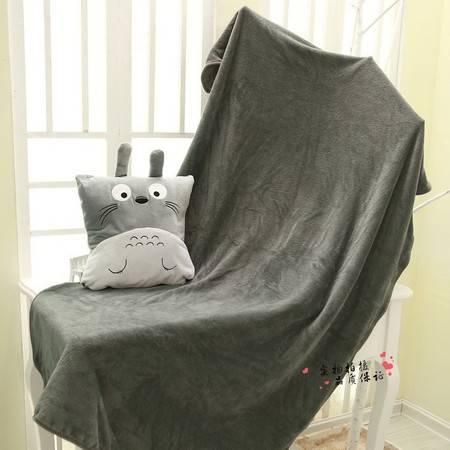 卡通龙猫分体毯子毛绒空调毯毯子90×100CM