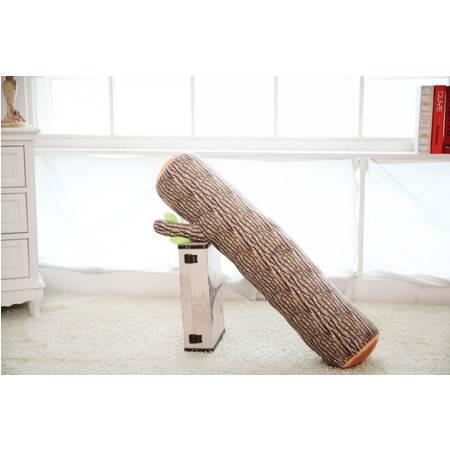 树桩抱枕 创意卡通毛绒玩具公仔树干90×18CM