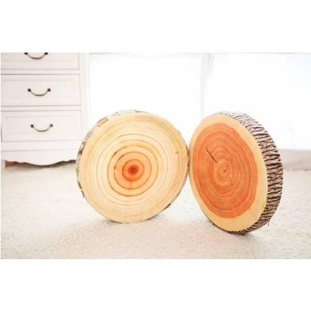 树桩抱枕 创意卡通毛绒玩具公仔