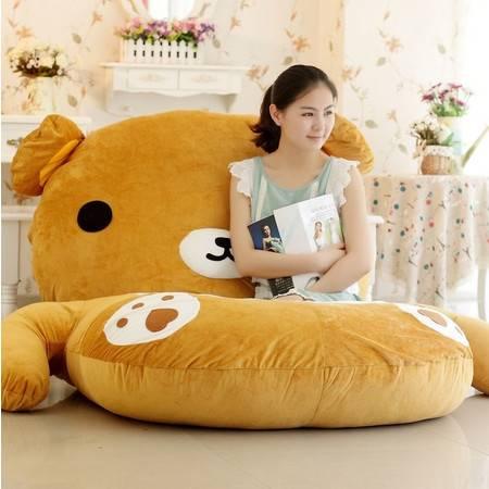 可爱双人轻松熊床垫 卡通懒人沙发床垫 榻榻米床 个性生日礼物