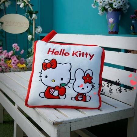 复合红色kitty调被 抱枕被靠垫展开100CM×148CM