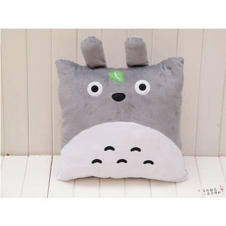 纯棉龙猫创意卡通空调被 靠垫被展开150×100CM