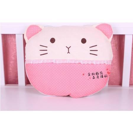 格子熊猫蕾丝猫咪空调被靠垫被抱枕展开145×95CM左右