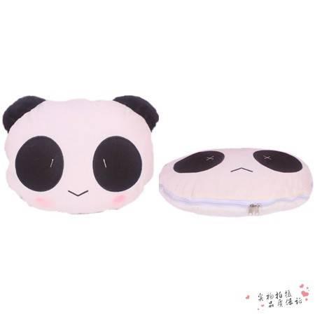 两用卡通熊猫空调被 靠垫被 抱枕被展开145×95CM