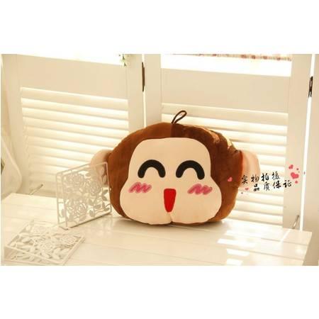可爱猴子卡通暖手靠垫 毛绒玩具38×45CM