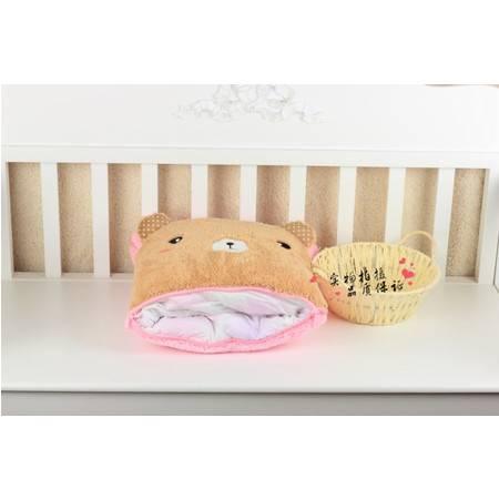 粉色小熊卡通空调被抱枕被靠垫被95×145CM