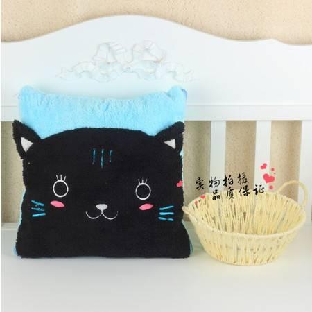 黑猫新品卡通空调被抱枕被靠垫被95×145CM
