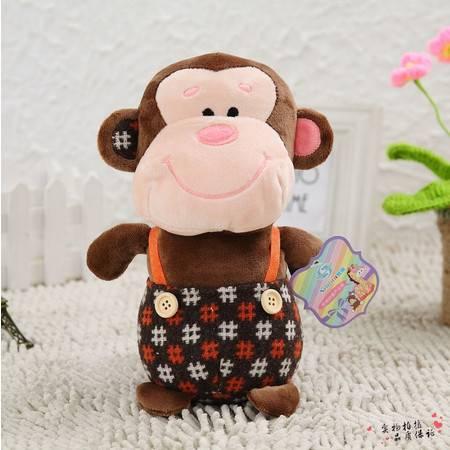 背带猴子小公仔 毛绒玩具 婚庆礼品22CM