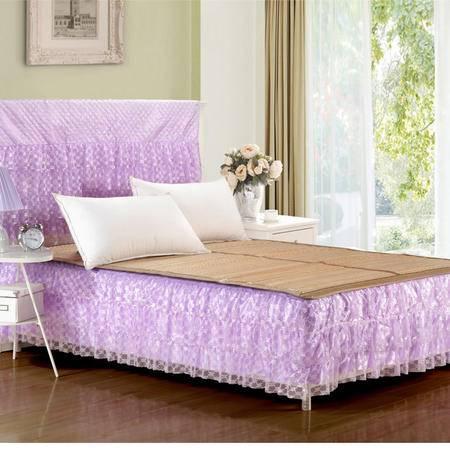 蛋糕层床裙床罩婚庆公主蕾丝淑女风床裙150*200CM
