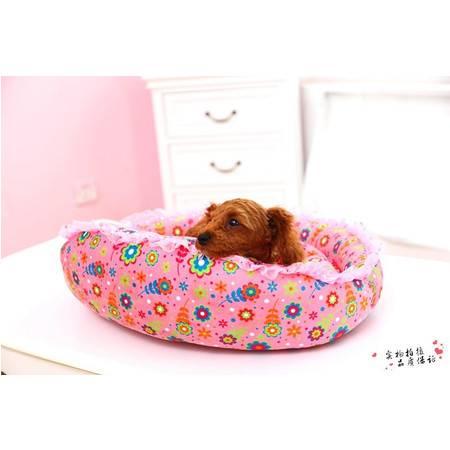 花边型毛绒狗窝宠物窝猫窝 中小型狗狗睡垫宠物用品沙发多款