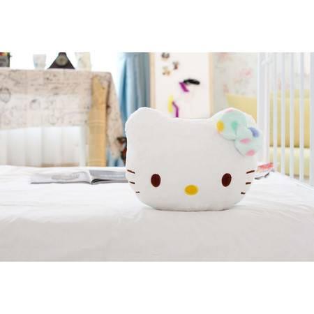 彩色猫咪抱枕车枕毛绒玩具车枕25×20×12CM