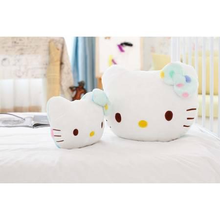 彩色猫咪抱枕车枕毛绒玩具抱枕40×30×15CM