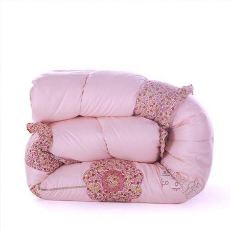 韩版绣花被婚庆被芯喜被床上用品秋冬天加厚被200*230