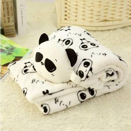 熊猫二合一卷毯 空调毯 抱枕毯小号卷毯1×1.6米