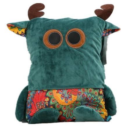 创意卡通抱枕毯子创意空调毯 毯子100×160CM