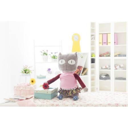 猫爸爸猫妈妈猫姐姐猫弟弟毛绒玩具公仔猫妈50cm
