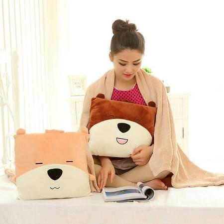 开心熊三用空调毯 卡通空调毯子1×1.5米