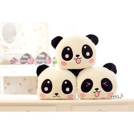 熊猫暖手靠垫 抱枕 填充毛绒玩具公仔