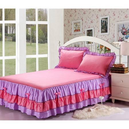 全棉双层床笠组合韩版印花单个床裙150*200CM